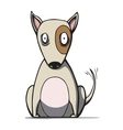 Funny cartoon bull terrier dog vector image vector image