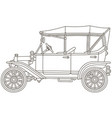funny old toy vintage car vector image vector image