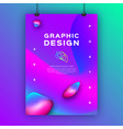 geometric gradient background fluid shapes vector image vector image