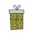 gift box surprise merry christmas vector image vector image