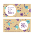 Gift voucher template Both sides Envelope size vector image