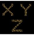 Golden letter set vector image vector image