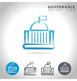 governance blue icon vector image vector image