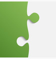 grey and green piece puzzle jigsaw vector image vector image