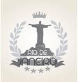 Grunge Rio de Janeiro icon laurel weath vector image vector image