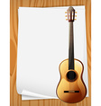 Guitar and paper vector image vector image