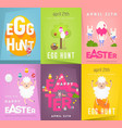 happy easter posters set vector image vector image