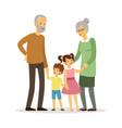 happy grandparents smiling elderly woman man vector image