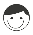 head boy smile isolated icon vector image