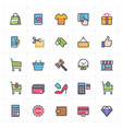 icon set - shopping and commerce full color vector image vector image
