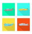 isolated object travel and airways sign vector image vector image