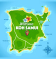 koh samui map vector image vector image