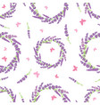 lavender wreaths and butterflies repeat pattern vector image vector image