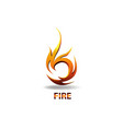 Logo element symbol fire