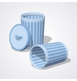 Low poly empty trash can vector image