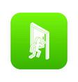 market exit icon green vector image