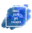 motivation poster small steps vector image vector image