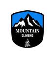 mountain climbing emblem template with mountain vector image vector image