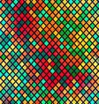 multicolor mosaic seamless pattern with grunge vector image