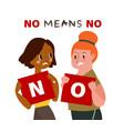 no means no concept vector image