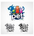 Online Pet Symbol vector image vector image