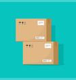 parcel boxes carton warehouse vector image vector image