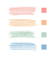pastel chalks vector image
