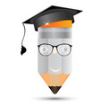 pencil in glasses the image of professors graduate vector image