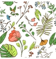 Plants and herbs seamless pattern vector image