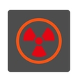 Radiation Danger Rounded Square Button vector image vector image