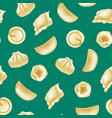 realistic detailed 3d different types dumplings vector image vector image