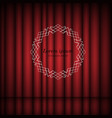 red curtains and vintage round frame with copy vector image vector image