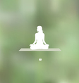 Relaxation pose Blurred green background vector image vector image