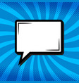 retro thinking speech bubble in pop art comic vector image vector image
