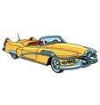 retro yellow car classic abstract model vector image vector image