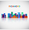 richmond skyline silhouette in colorful geometric vector image vector image