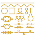 rope knots icons photo realistic set vector image vector image