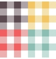 Set of four colored patterns vector image vector image
