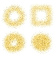 Set of six golden sand glitter effect good for vector image vector image