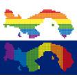 spectrum pixel dotted panama map vector image