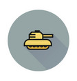 tank icon on white background vector image vector image