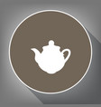 tea maker kitchen sign white icon on vector image vector image