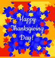 thanksgiving day in canada maple leaf frame name vector image