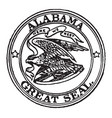 the great seal of alabama 1911 vintage vector image vector image