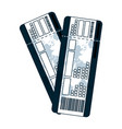 tourist tickets travel airplane vacation vector image vector image