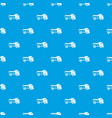 toy truck pattern seamless blue vector image vector image