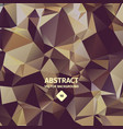 Triangle abstract background brown color vector image