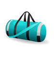 turquoise sport bag for sportswear and equipment vector image vector image