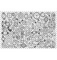 watch shop doodle set vector image vector image