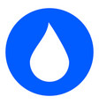 water drop button water drop icon vector image vector image